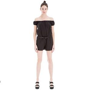 Max Studio London Womens Belted Romper Jumpsuit